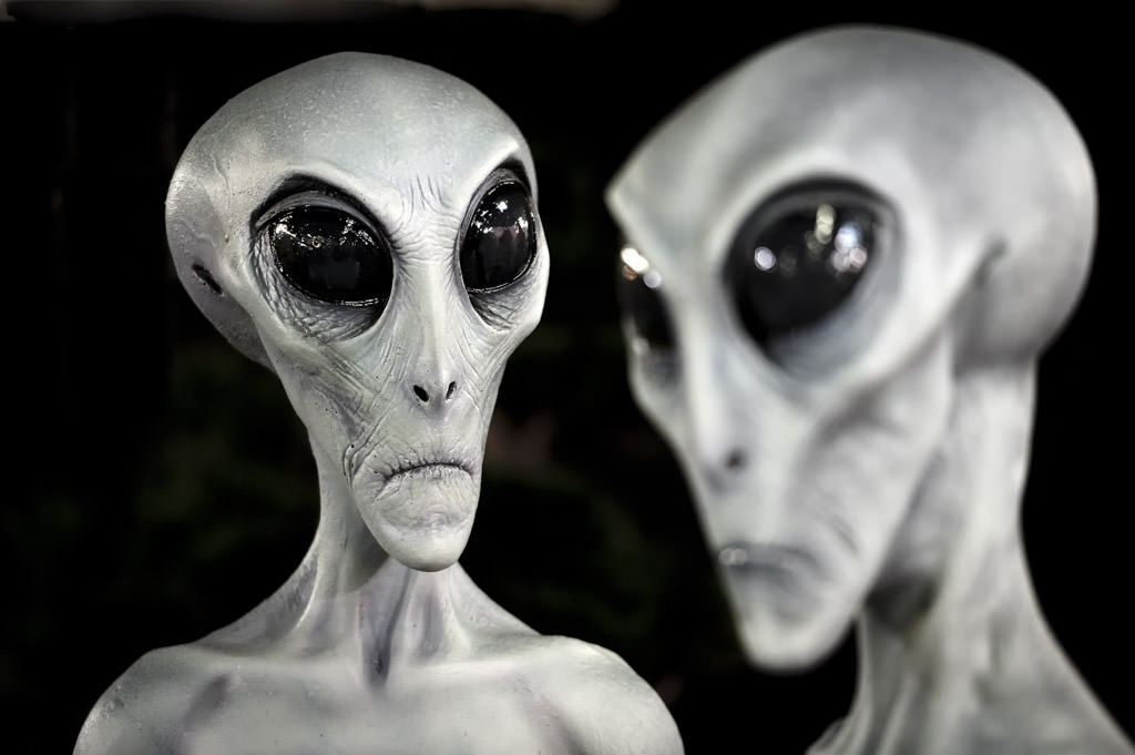 Grey Aliens, UFO Museum, Roswell, New Mexico, USA